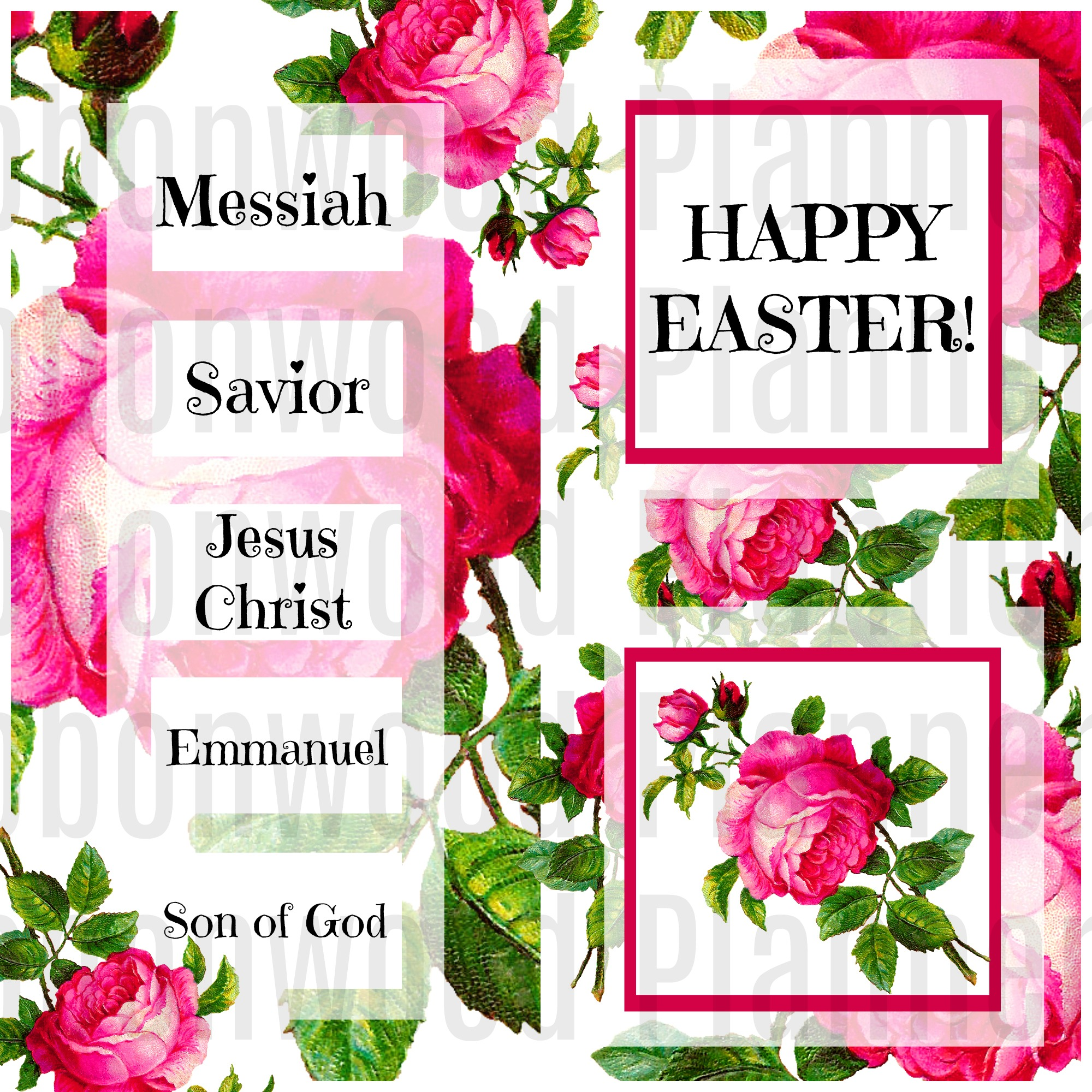 EASTER Names of Savior watermark